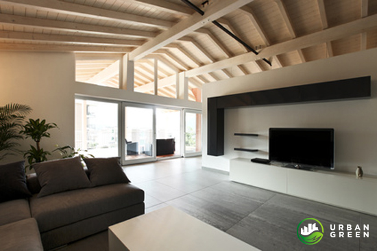 Foto interni case in legno