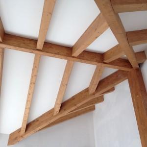 casa in legno tetto