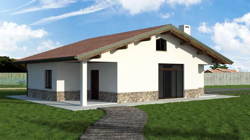 Casa in legno monopiano urb16 urban green for Case piccole in legno