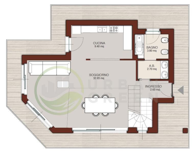 Casa in legno bipiano urb01 urban green - Casa su due piani ...