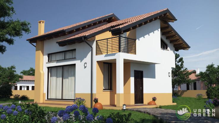 Casa in legno bipiano urb01 urban green for Case legno romania