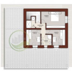 casa in legno bipiano primo piano