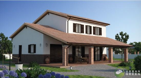 Progetti case in legno urban green for Moderni disegni di case a due piani