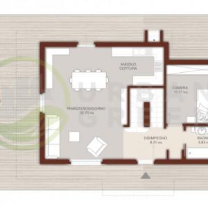 progetto casa in legno bipiano piano terra