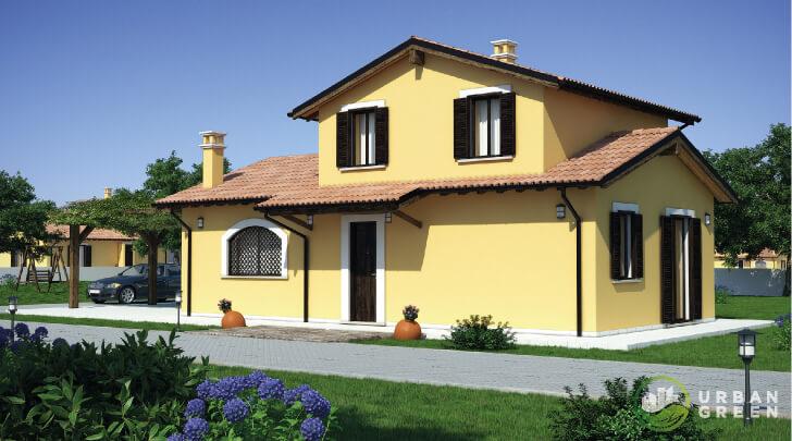 Casa in legno bipiano urb03 urban green for Villette prefabbricate in muratura prezzi