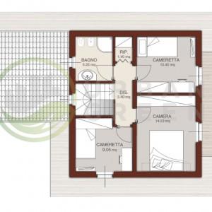 progetto casa in legno bipiano piano primo