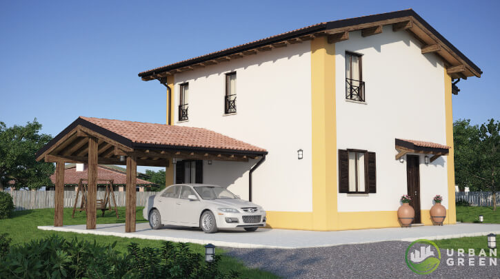 Casa in legno bipiano urb04 urban green - Case a due piani interni ...
