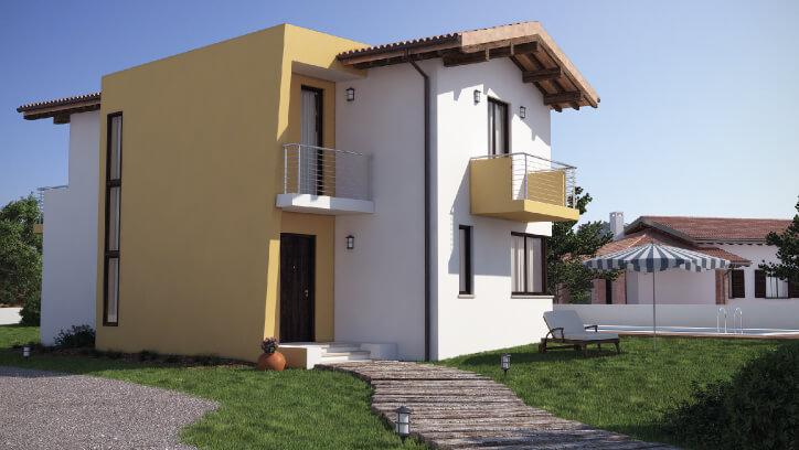 Casa in legno bipiano urb06 urban green for Case in legno 150 mq