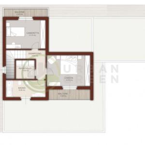 casa in legno bipiano pianta primo piano