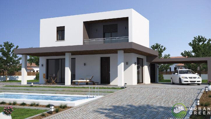 Casa in legno bipiano urb06 urban green for Architettura ville moderne