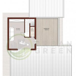 progetto casa in legno piano primo