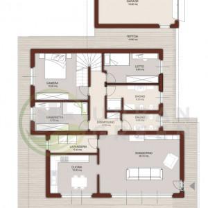 progetto casa in legno piano terra