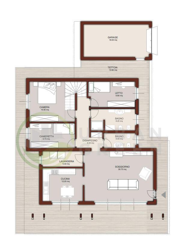 Casa In Legno Monopiano Urb18 Urban Green Progetto Casa Monopiano