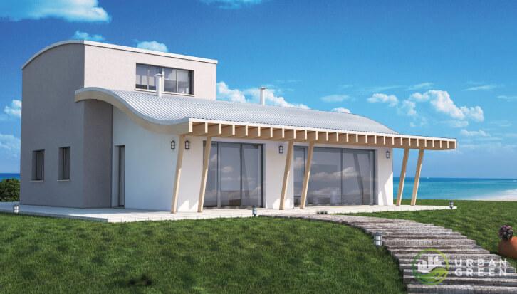 Progetti case in legno urban green for Piante case moderne