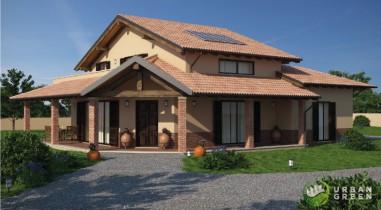 Casa in legno urb08 for Progetti di cortili per case
