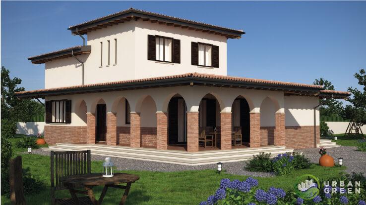 Casa in legno bipiano urb06 urban green for Progetti case ville