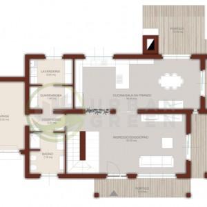 casa in legno bipiano pianta piano terra