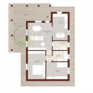 Casa in legno monopiano urb13 urban green - Progetto casa 100 mq ...