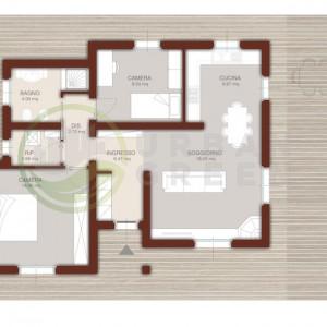 casa in legno monopiano 90mq
