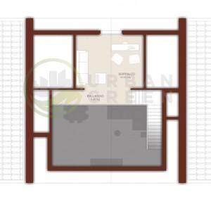 Progetto casa in legno con soppalco
