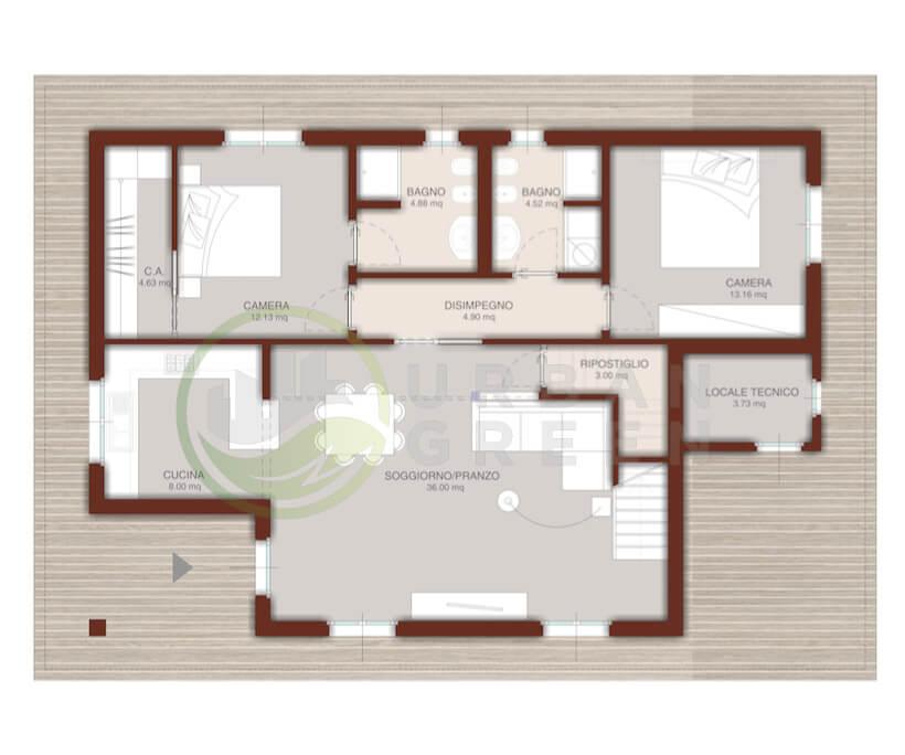 Casa in legno monopiano urb16 urban green for Costruisci il tuo progetto di casa