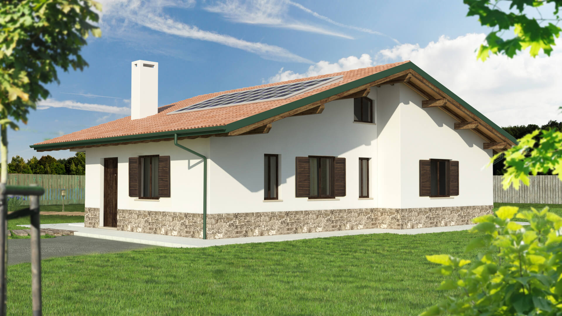 Casa in legno monopiano urb16 urban green for Piani casa cottage con soppalco