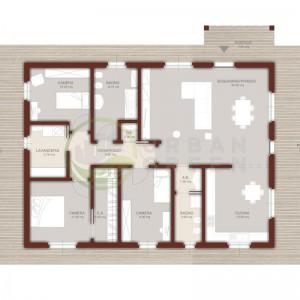 Progetto casa in legno 130mq