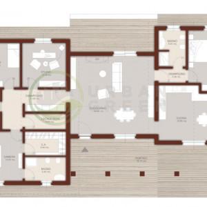 progetto casa in legno monopiano 200mq