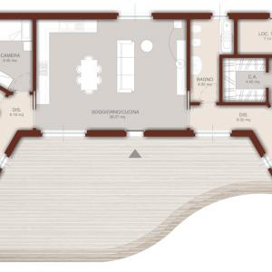 casa in legno moderna monopiano 200mq