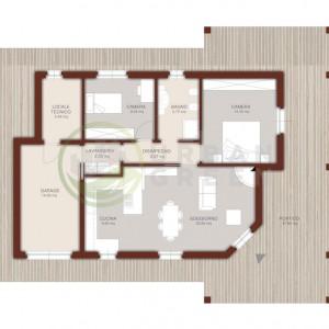 planimetria casa in legno 120mq