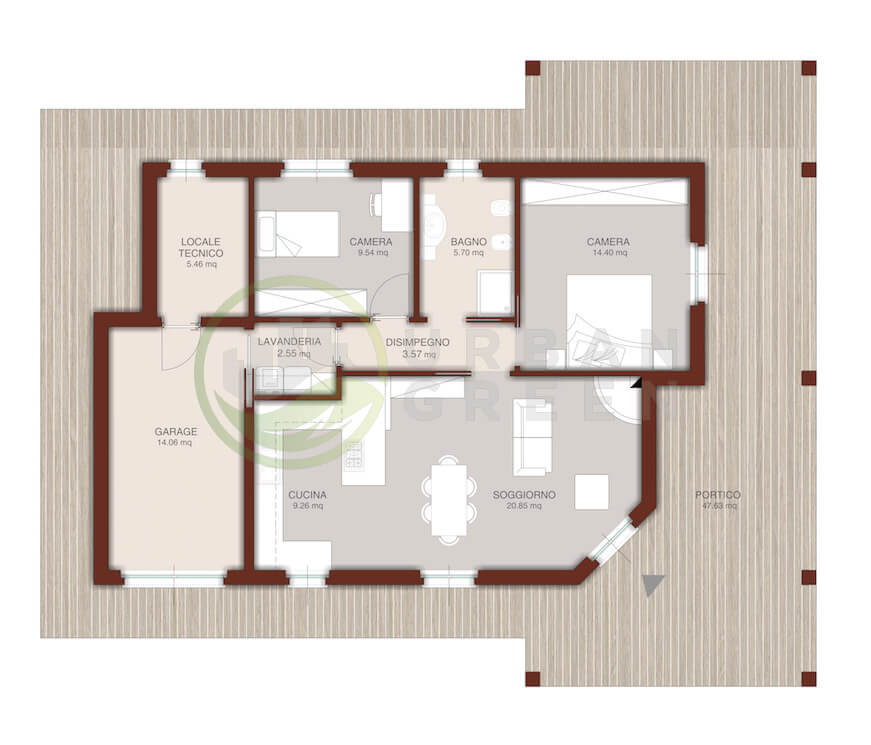 Casa In Legno Monopiano Urb24 Urban Green
