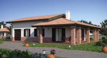 Casa in legno monopiano urb14 urban green for Case in stile meridionale con avvolgente portico
