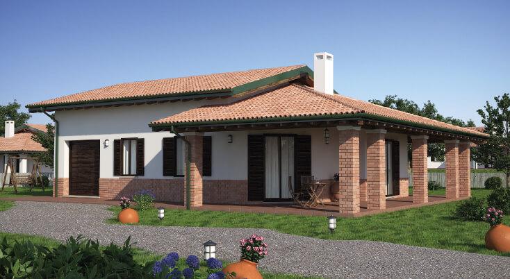 Casa in legno monopiano urb24 urban green for Strutture case moderne