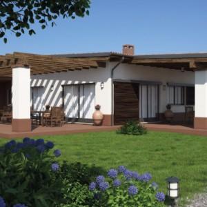 Casa in Legno monopiano moderna