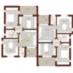 casa bifamiliare in legno da 160mq