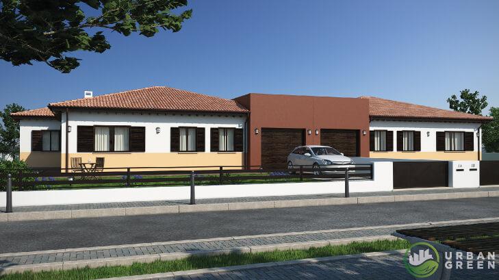 Casa in legno bifamiliare urb31 urban green - Case moderne ad un piano ...