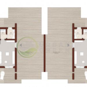 planimetria casa in legno bifamiliare piano primo