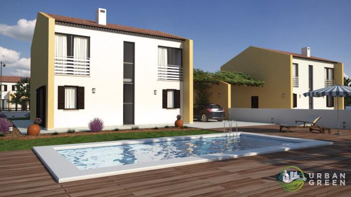 Casa in legno bifamiliare urb32 urban green for Ville bifamiliari moderne