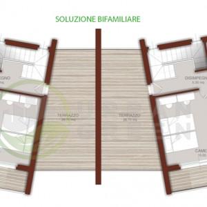 progetto casa in legno bifamiliare