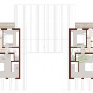 progetto casa in legno bifamiliare piano primo