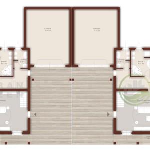 progetto casa in legno bifamiliare piano terra