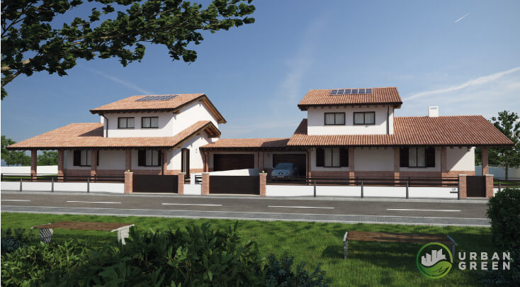 Armadio Legno Esterno : Casa in legno bifamiliare urb urban green