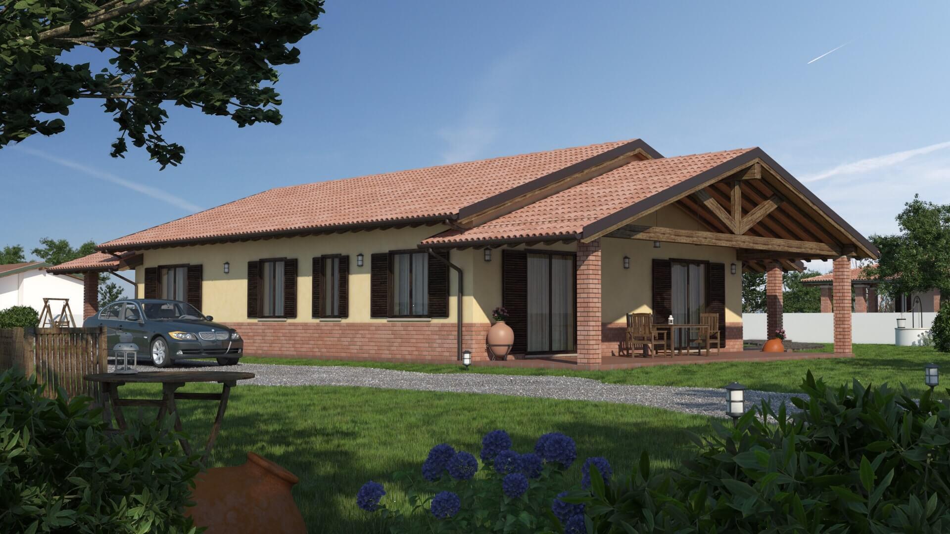 Casa in legno monopiano urb17 urban green for Progetti di casa tudor