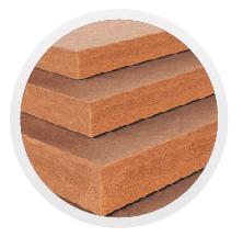 fibra di legno per coibentazione tetti e pareti case in legno.