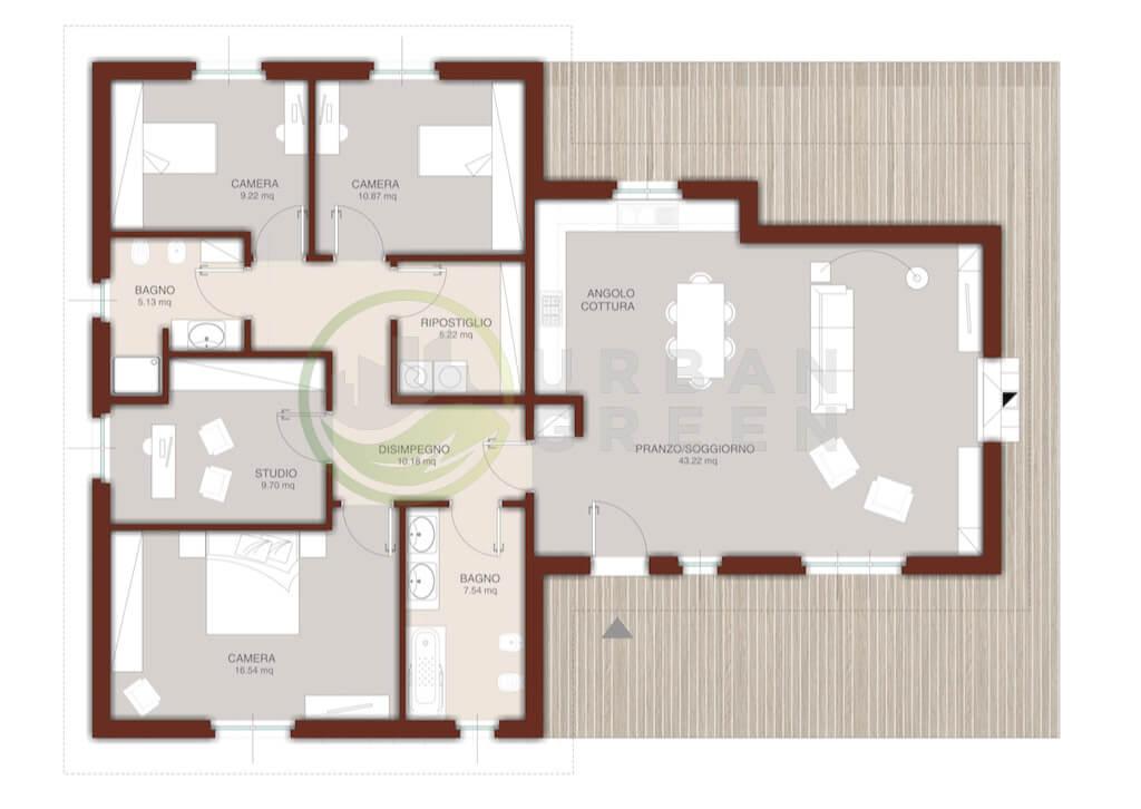 Casa In Legno Monopiano Urb27 Urban Green