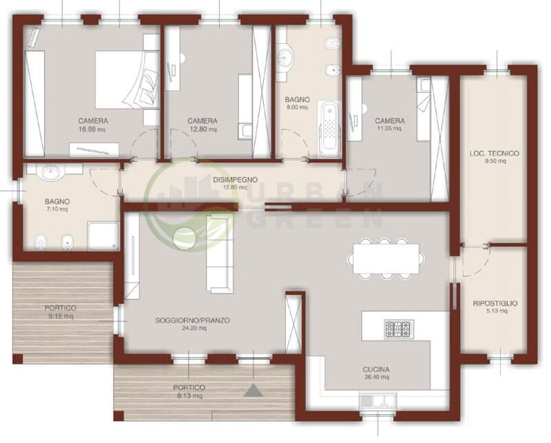 Casa In Legno Monopiano Urb22 Urban Green