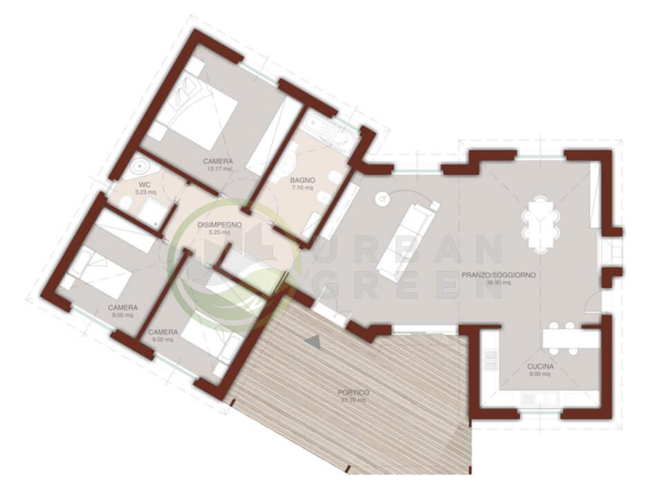Casa In Legno Monopiano Urb28 Urban Green