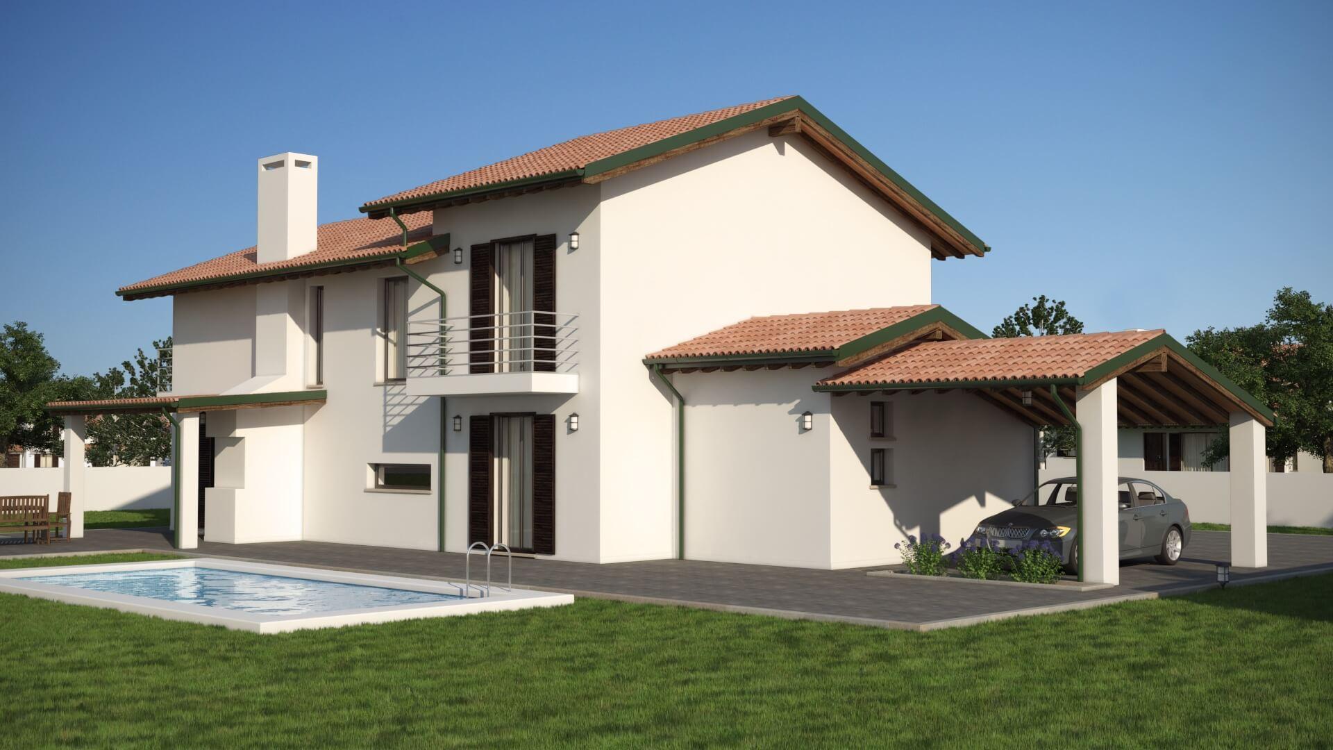Casa in legno bipiano urb11 urban green for Progetto casa moderna nuova costruzione