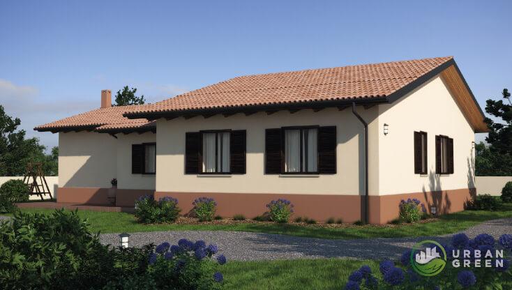 Casa in legno monopiano urb27 urban green - Case monopiano progetti ...