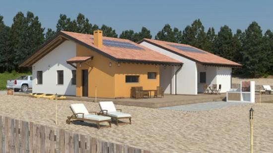 Casa in Legno bifamiliare progetto monopiano